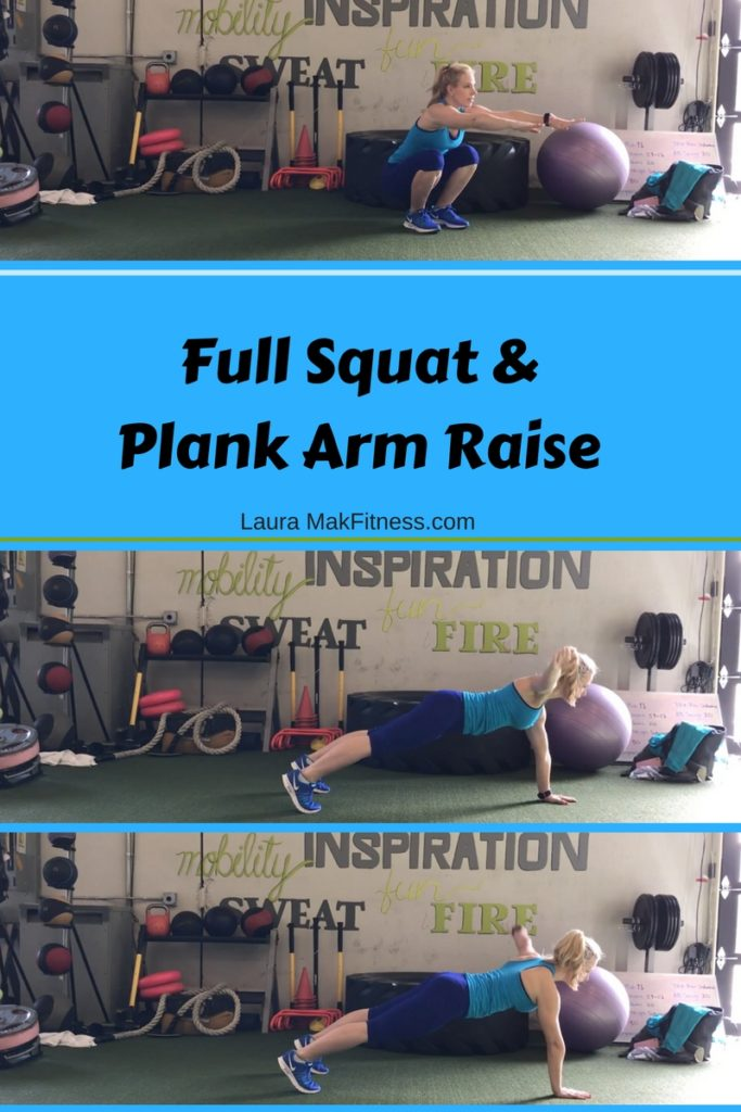 Laura Mak Fitness Expert squat and plank