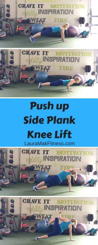 Laura Mak Fitness Expert Plank pushup, knee lift